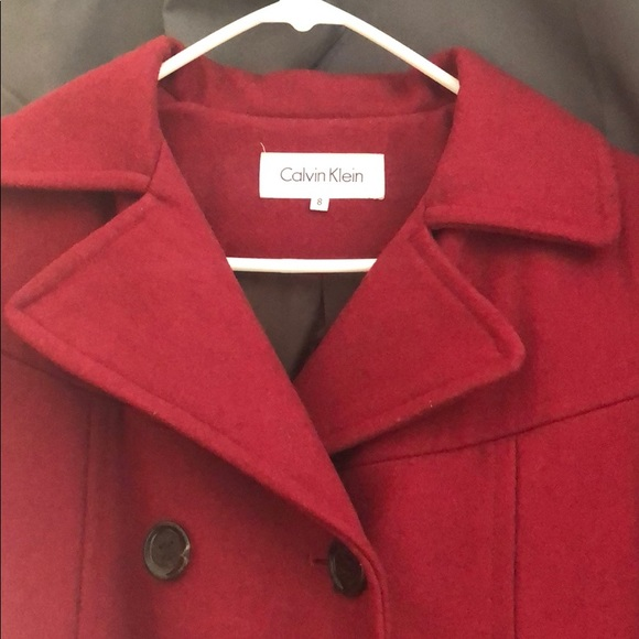 Calvin Klein Jackets & Blazers - Beautiful wine coat by Calvin Klein